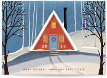 Snowy A-Frame by Becky Nimoy