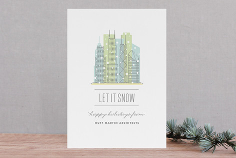 City Flurry Chicago Business Holiday Cards