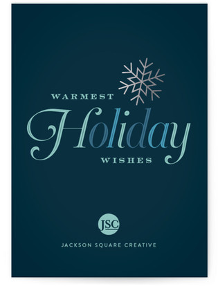 Winter Snowflake Business Holiday Cards