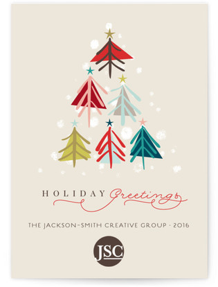 Joyous Trees Business Holiday Cards