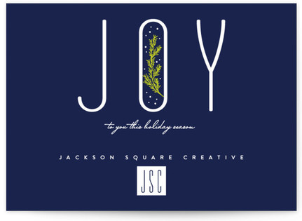 Bubble of Joy Business Holiday Cards