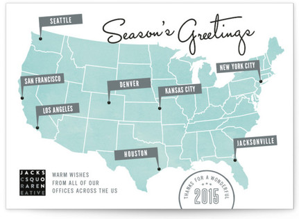 Location Location Business Holiday Cards