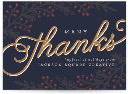 Many Thanks Business Holiday Cards