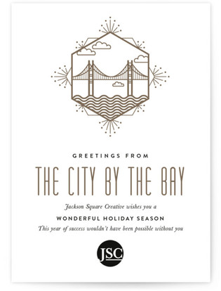 Nickname City Business Holiday Cards