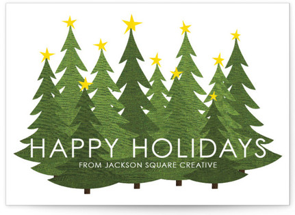 Forest Holiday Business Holiday Cards