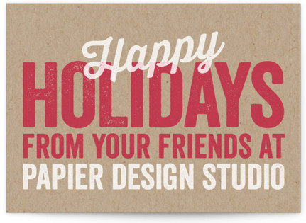 Stamped Holiday Business Holiday Cards
