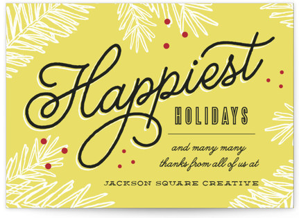 Happiest Holiday Wishes Business Holiday Cards