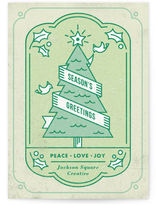 Holiday Tree Business Holiday Cards
