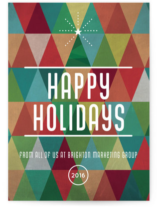 Cheery Triangles Business Holiday Cards
