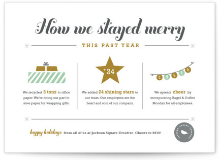 How We Stayed Merry - Year in Review Business Holiday Cards