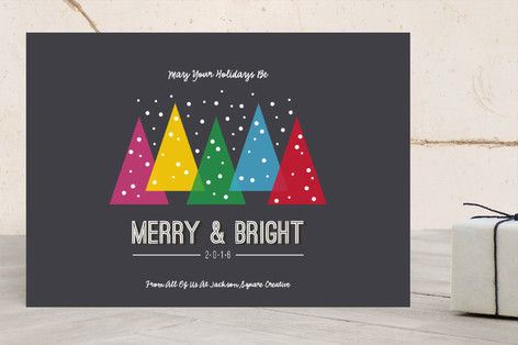 Merry Bright Trees Business Holiday Cards