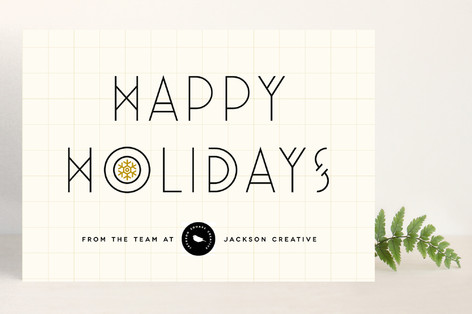 Graphic Deco Business Holiday Cards