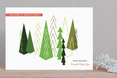 Evergreen Winter Business Holiday Cards