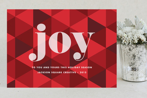 Joy Geometric Business Holiday Cards