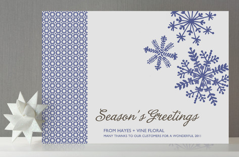 Dutch Snowflake Business Holiday Cards