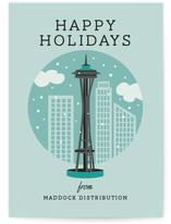 Snowy Seattle by Yolanda Mariak Chendak