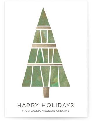Deco Tree Business Holiday Cards