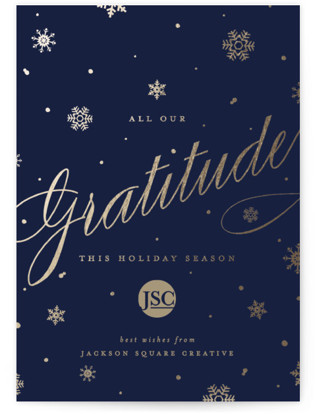 Shimmering Snow Business Holiday Cards