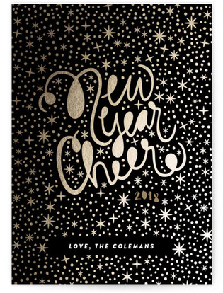 Wow Factor Foil-Pressed Holiday Cards