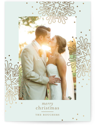 Fancy Flurries Foil-Pressed Holiday Cards