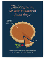 Pie Chart Foil-Pressed Holiday Cards