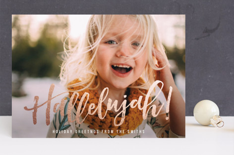 Hallelujah for the Holidays Foil-Pressed Holiday Cards