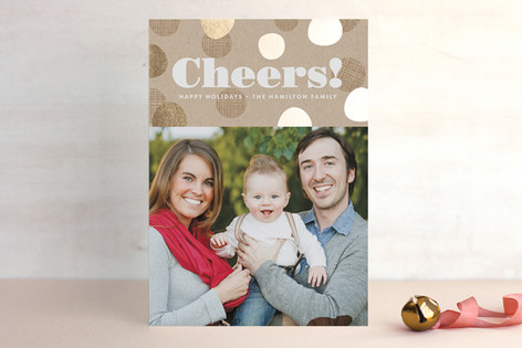 Krafted Cheers Foil-Pressed Holiday Cards