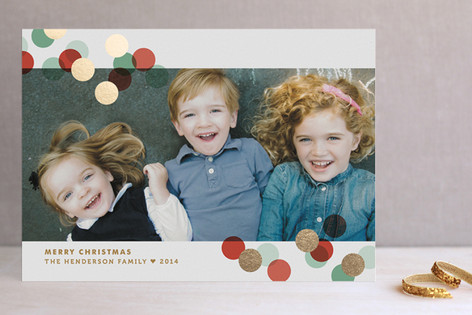 Confetti Toss Foil-Pressed Holiday Cards