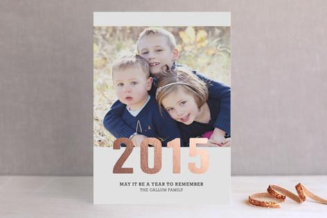 Sparkling Foil-Pressed Holiday Cards
