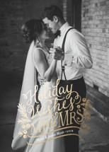 Mr. & Mrs. Foil-Pressed Holiday Cards