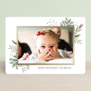Wintertide Foil-Pressed Holiday Cards