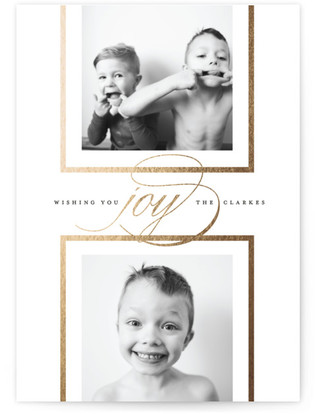 Gallery Foil-Pressed Holiday Cards