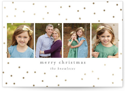 Merry Sparkle Foil-Pressed Holiday Cards