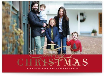 Simple Elegance Foil-Pressed Holiday Cards