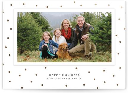 Modern Dot Foil-Pressed Holiday Cards