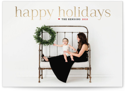 Timeless Greeting Foil-Pressed Holiday Cards