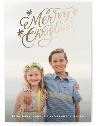 Classically Scripted Christmas Foil-Pressed Holiday...
