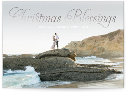 Christmas Blessing Foil-Pressed Holiday Cards