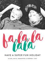 Fa La La Letterpress Holiday Photo Cards