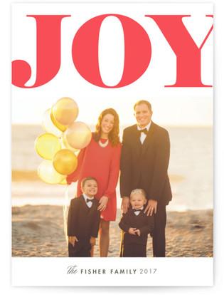 Grand Joy Letterpress Holiday Photo Cards