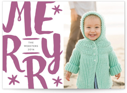 Merry Graffiti Letterpress Holiday Photo Cards