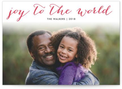 Simple Joy Letterpress Holiday Photo Cards