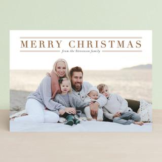 Martha's Vineyard Letterpress Holiday Photo Cards