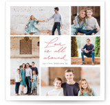Love all around Letterpress Holiday Photo Cards