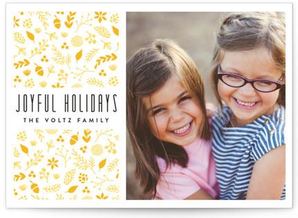 Botanic Joy Letterpress Holiday Photo Cards
