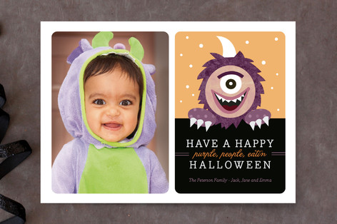 Purple People Eater Halloween Cards