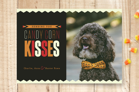 Candy Corn Kisses Halloween Cards