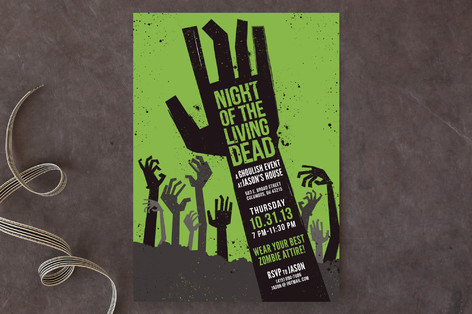 Night of the Living Dead Halloween Cards