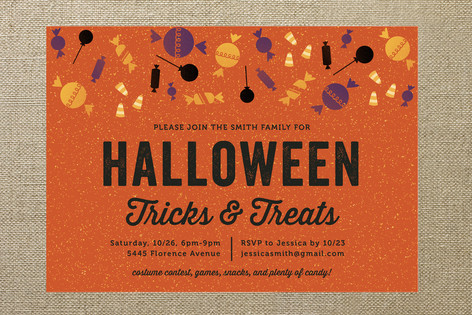 Tricks and Treats Halloween Cards