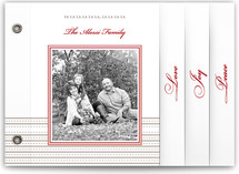 Classic Ribbon Stripes Holiday Minibook™ Cards